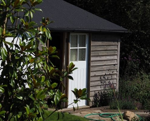 Restored Wooden Garden Potting Shed By Apple Tree Cabins